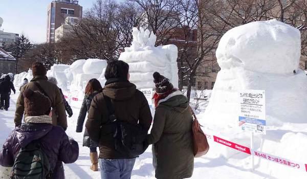 Winter in Sapporo Japan