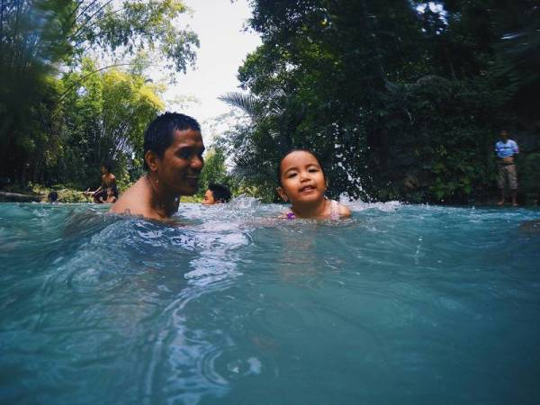 Swimming in Cambugahay Falls