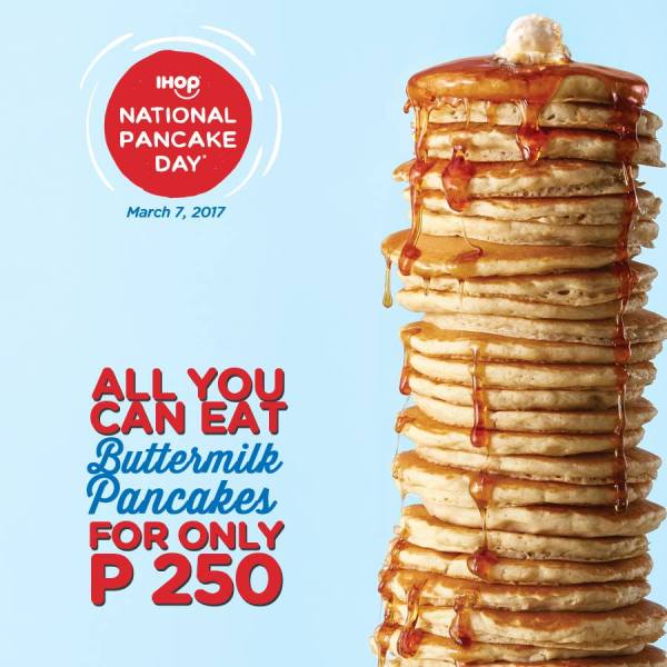 All you can eat at iHop National Pancake Day 2017