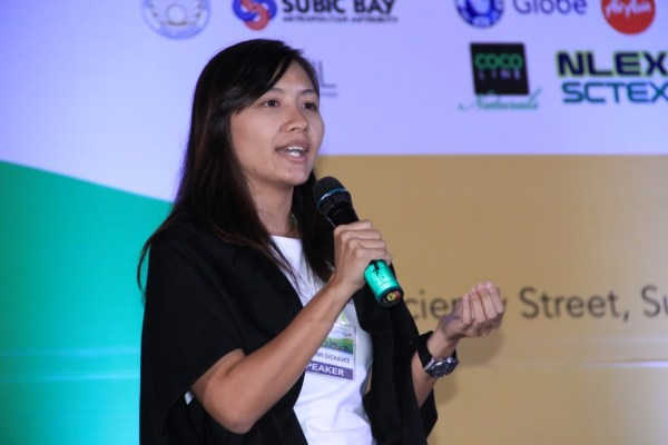 "Jamie Anne Dichaves, Sustainability Officer and Pollution Control Officer of Lio Tourism Estate, encourages the delegates to help address the needs of communities by way of ecotourism. Her presentation tackled ""Striking a Balance: Ecotourism for Environmental Conservation and Rural Development."""