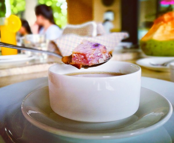 pork soup with purple yam