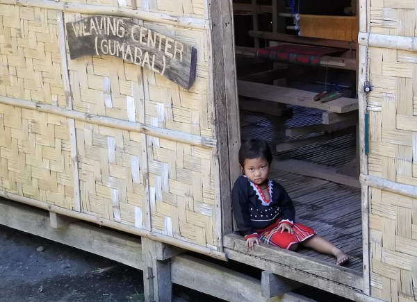 Blaan Kid at the Weaving Center