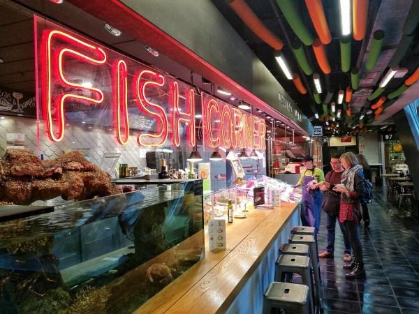 Fish Corner inside Mercado de San Anton