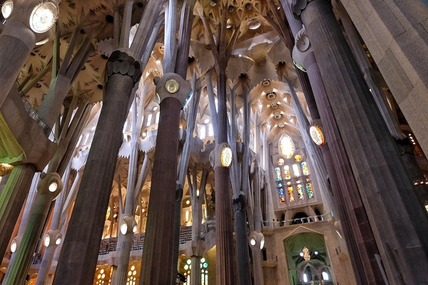 Inside La Sagrada Basilica