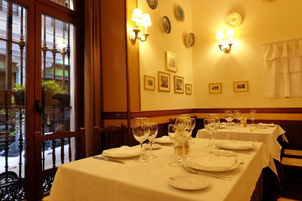Our dining table at Restaurante La Barraca