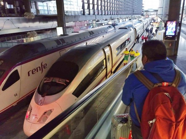 Train from Madrid to Barcelona
