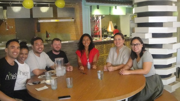 WIth friends and the awesome people behind Fat Rice