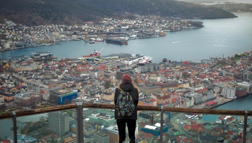 Birdsye-view of Bergen