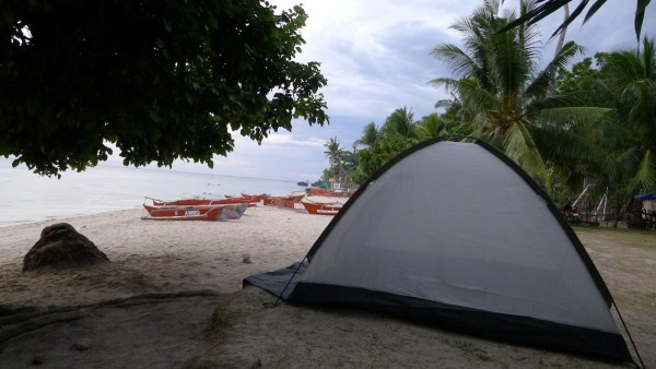 Camp at free public beaches