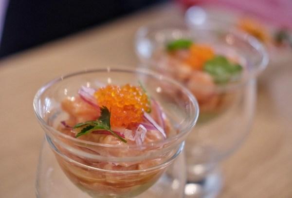 Ceviche de salmon con guacamole