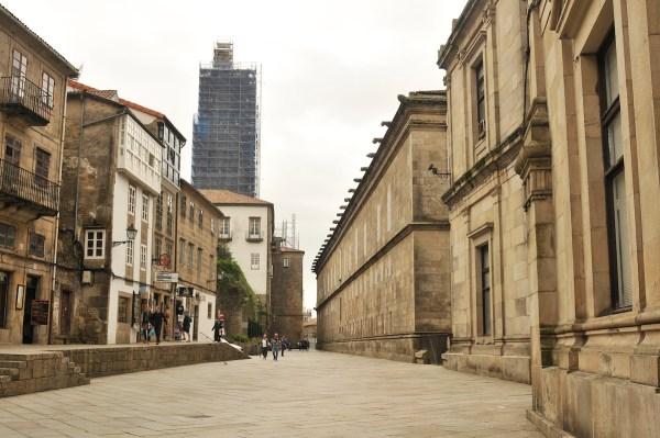 Entrance to Obradoiro Square.
