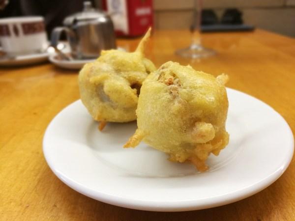 Fried Artichoke with Ham