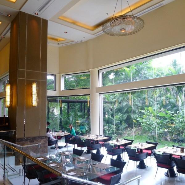 Interiors at Cebu Marriott's Garden Cafe