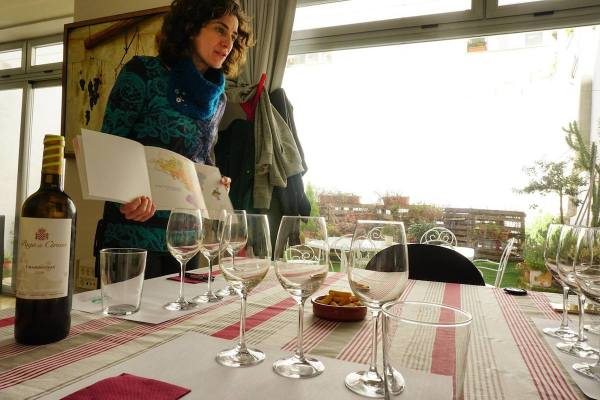 Our Guide Bea - giving us introduction about the local wines photo by Mark Angelo Acosta