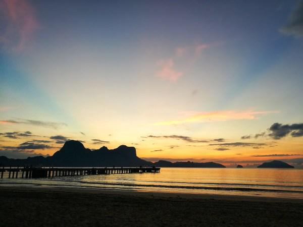 Sunset in LiO Estate El Nido Palawan