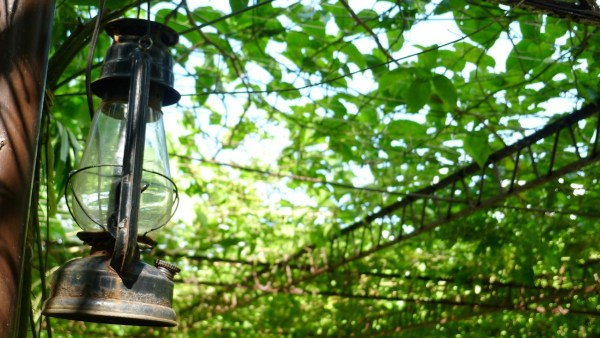 Antique lamp at The Farmhouse in Aloguinsan