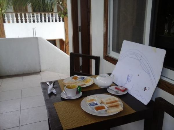 Complimentary breakfast at the Family Room terrace