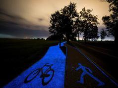 Glow-in-the-Dark Bike Path