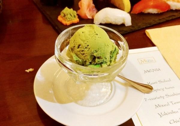 Macha Ice Cream from Mizu