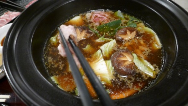 Mixed everything in the hot pot