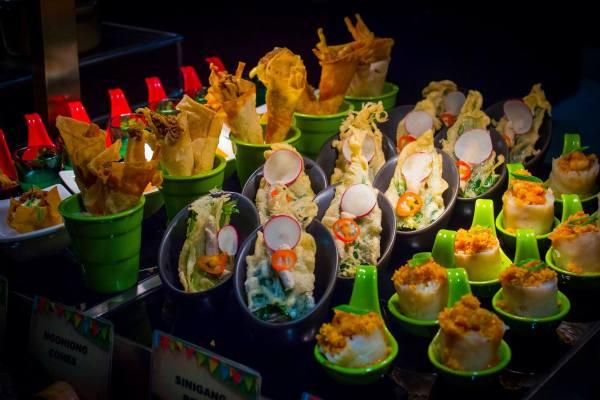 Ngohiong Cones, Sinigang Bites and Palabok Bites