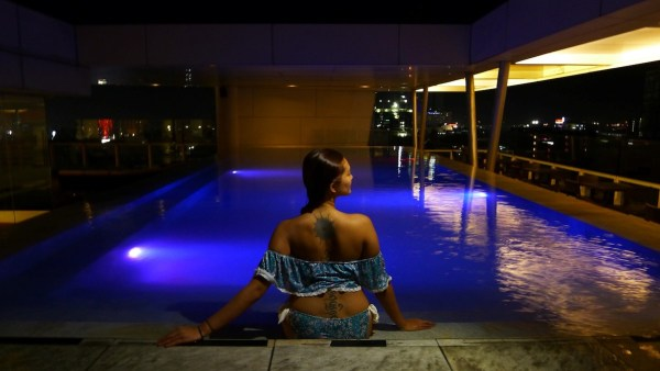 Night dip at the Infinity Pool