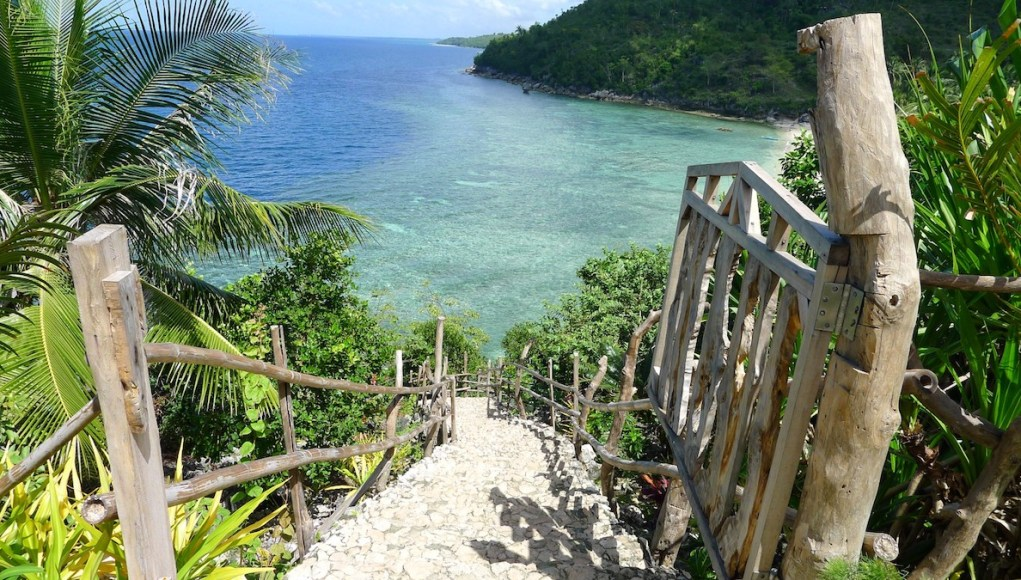 Stairway at Hermit's Cove in Aloguinsan