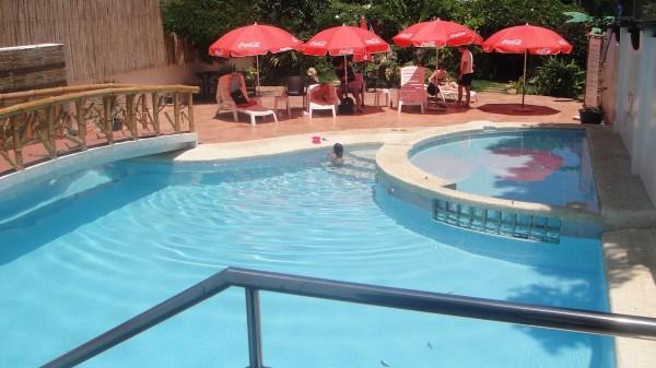 The swimming pool area