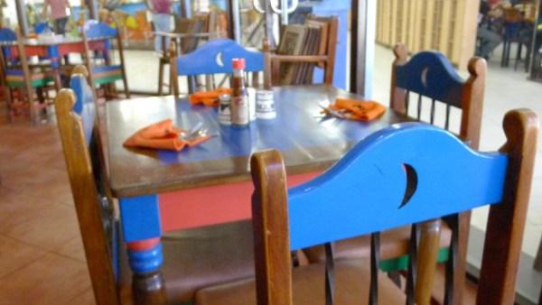 Cantina-inspired furniture at Mooon Cafe Cebu