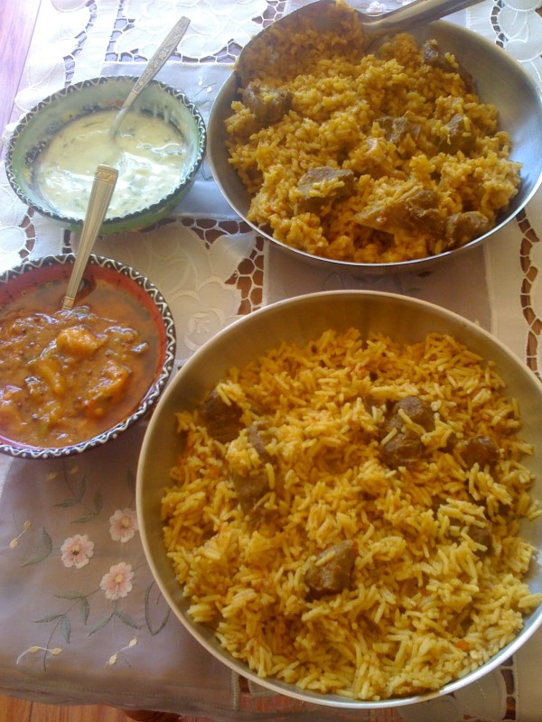 Cape Malay rice dish