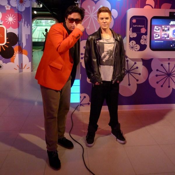 Justin Bieber at Madame Tussaud's Bangkok