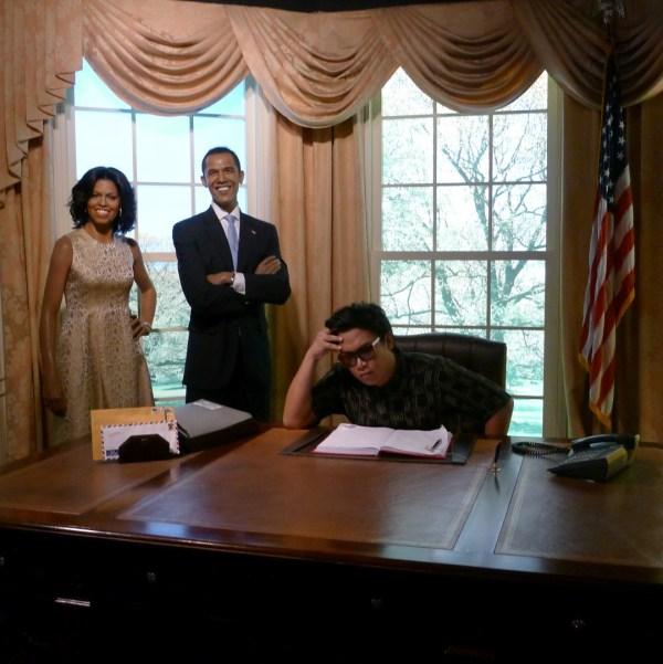 Michelle and Barack Obama at Madame Tussaud's Bangkok