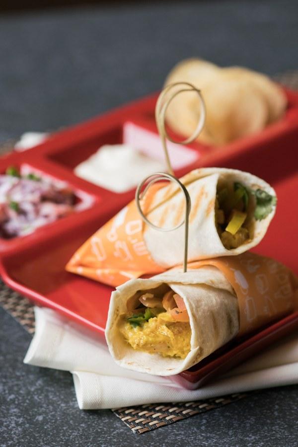 Mildy Curried Chicken Salad with Mango Chutney Tortilla Wrap Delish Munches