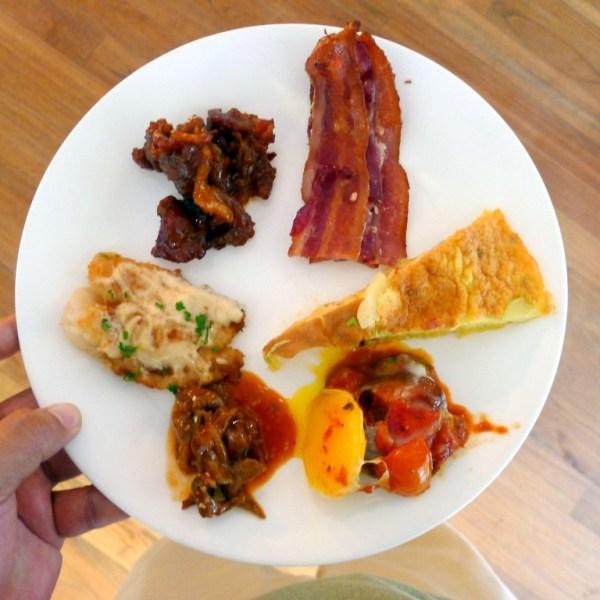 My Breakfast Buffet Plate at Kilimanjaro Kafe