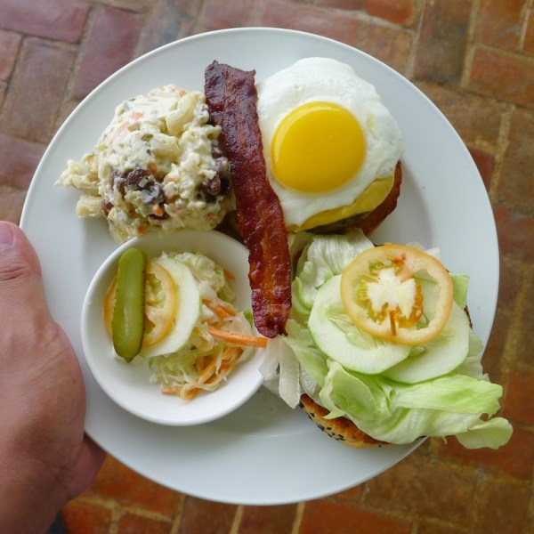 Powerhouse Burger at Savannah Grill