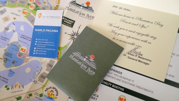 Resort Map and Personalized Welcome