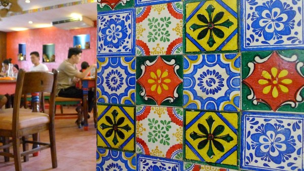 Talavera tiles at Mooon Cafe Cebu