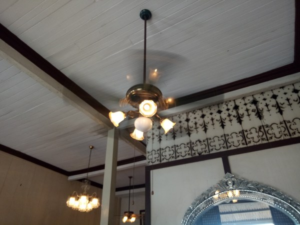 The ceiling of Goco ancestral House