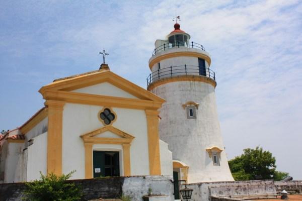 Capela de Nossa Senhora da Guia and Guia Lighthouse at the Guia Fortress.