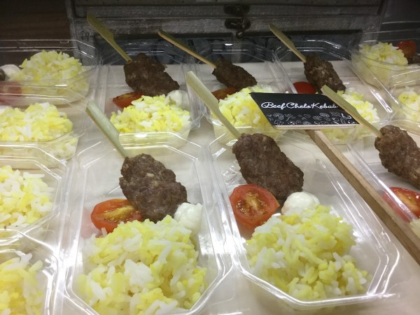 Chelo Kebab - Tender beef skewers dipped in yogurt sauce curbs the Arabic food craving.