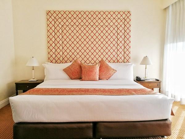 Elegant bed inside a Premiere Suite