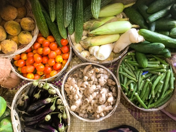 Fresh harvests for sale. Just showing the province's agricultural diversity.