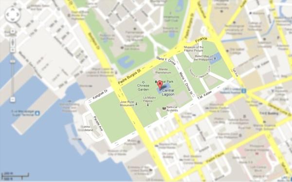 Google Maps of Manila