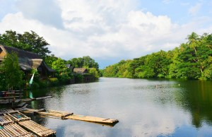 Labasin Lake viewing the magical Mt. Banahaw.