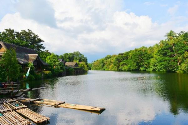 Labasin Lake viewing the magical Mt. Banahaw. - Villa Escudero Plantations and Resort
