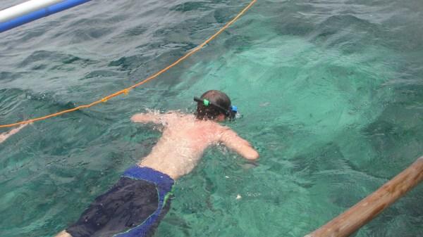Snorkeling around Crocodile Island