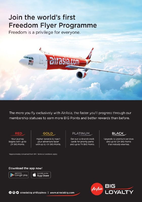Features of AirAsia BIG Freedom Flyer Programme