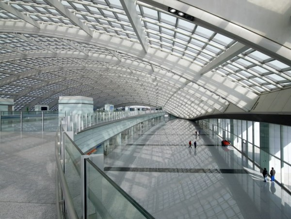 Interior of Beijing Daxing International Airport the World's Biggest Airport