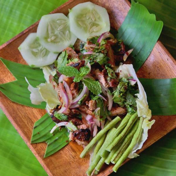 Moom Nam Tok Salad. Photo by Gypsea Shack Bar and Restaurant fb page