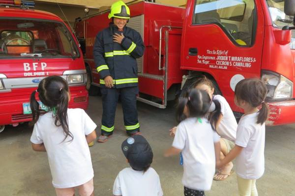 TLIMC students' visit at the Fire Station